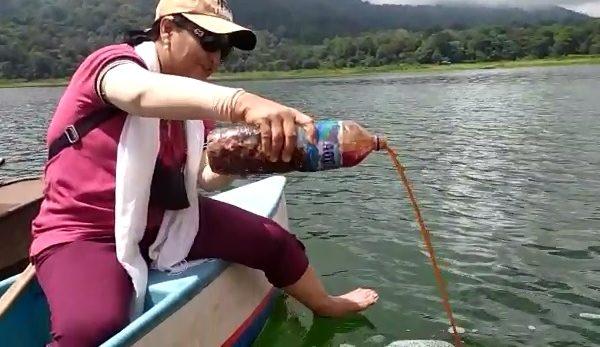 Serangkaian HUT, Mahasiswa Tanam Pohon dan Tebar Benih Ikan di Area Danau Tamblingan