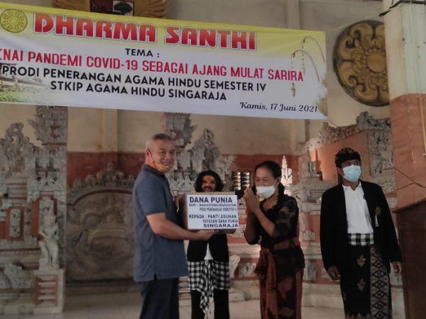 Mahasiswa Prodi Penerangan Agama Hindu Singaraja, Maknai Pandemi Covid-19 sebagai Ajang Mulat Sarira