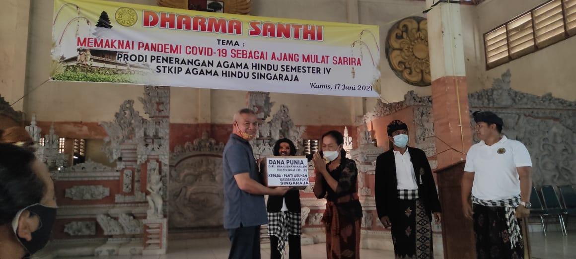 , Mahasiswa Prodi Penerangan Agama Hindu Singaraja, Maknai Pandemi Covid-19 sebagai Ajang Mulat Sarira