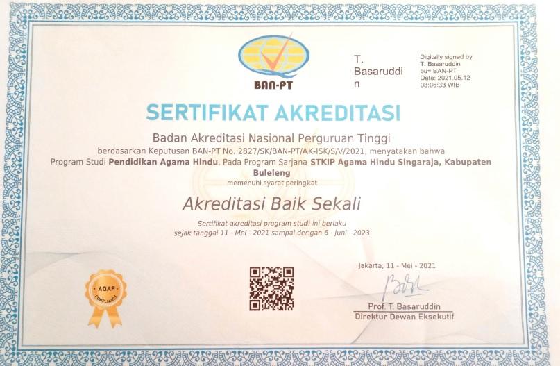 , SK Akreditasi Program Studi